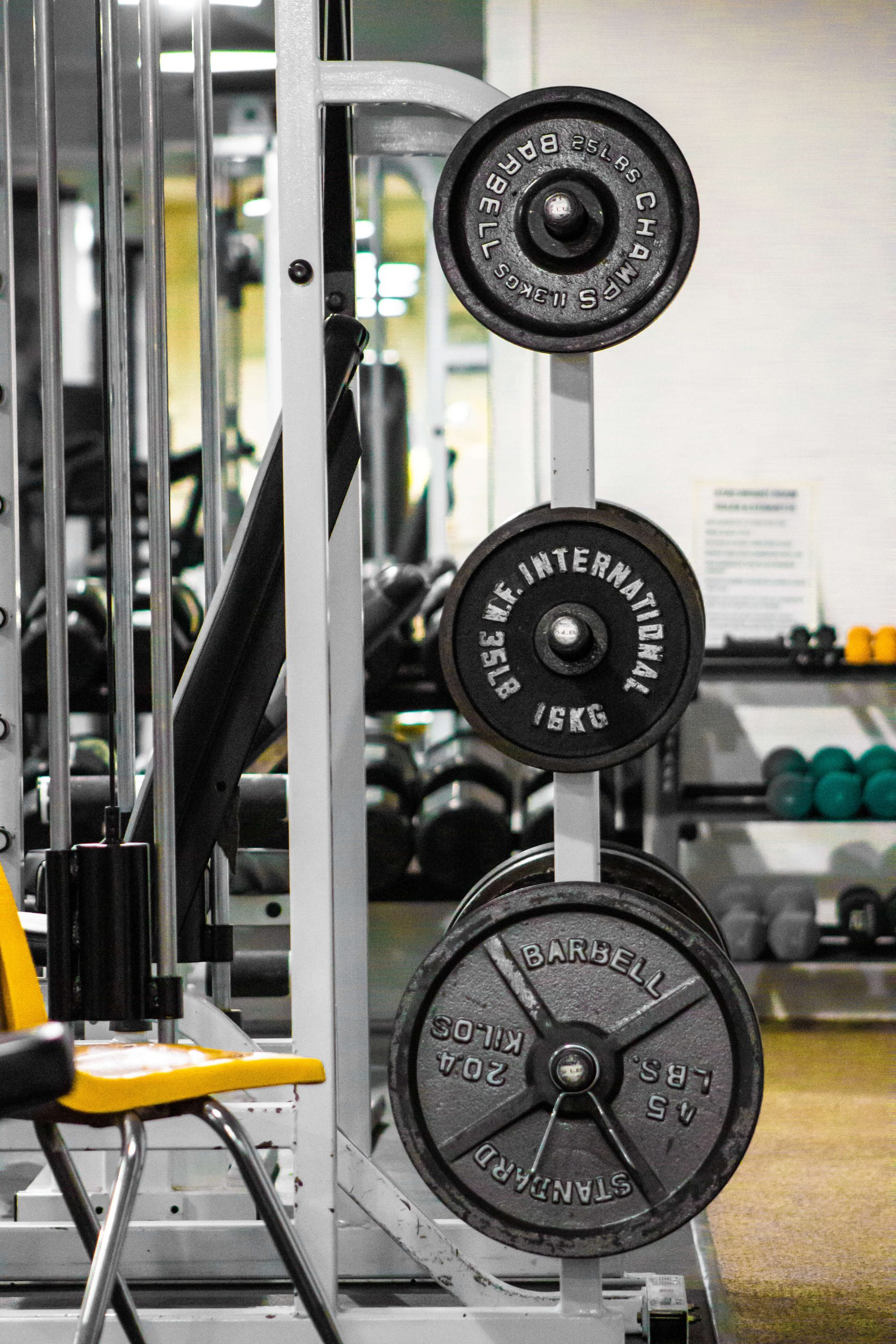 Weight Training and Free Weights in the Gym at Kitsap Tennis and Athletic Center