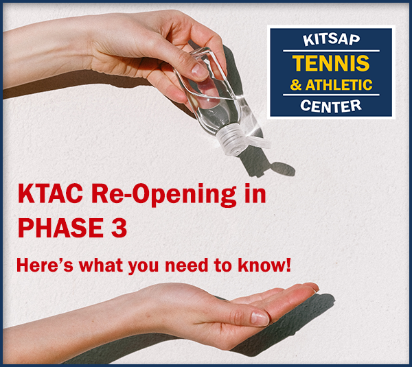 Graphic of Hand Sanitizer signifying KTAC reopening in Phase 3