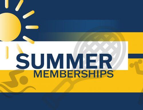 Summer Memberships are Back June 1st!